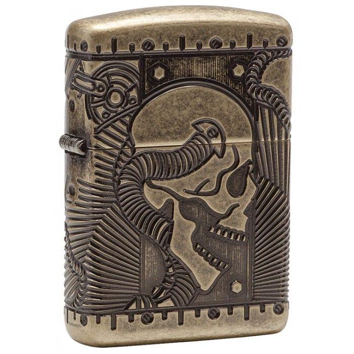 Zippo Lighter: Armor Multicut Steampunk - Antique Brass 29268