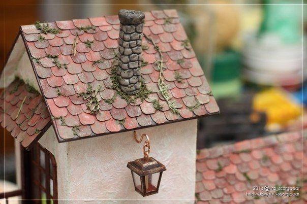 Очаровательный домик из картона