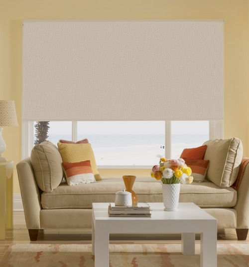 Bali roller shades blackout home chic and the back for Bali blinds motorized remote control