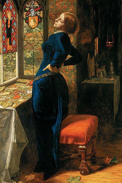 John Everett Millais, *Mariana*, 1851. Oil on mahogany, 59.7 x 49.5 cm. Tate Collection, London