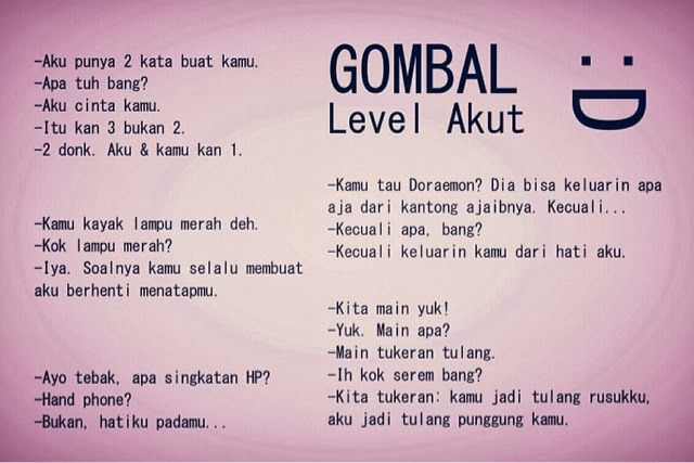 #gombal level