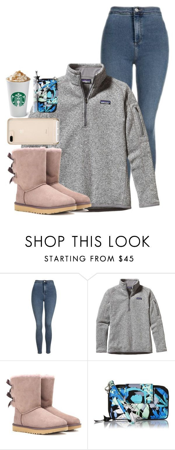 set 5:)) by lfprep ❤ liked on Polyvore featuring Topshop, Patagonia, UGG and Vera Bradley