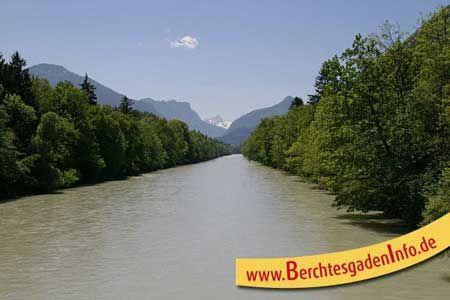 Der Saalachtal Radweg führt entlang des Saalachtals an Bad Reichenhall vorbei bis hinaus zur Salzach