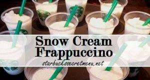 starbucks snow cream frappuccino