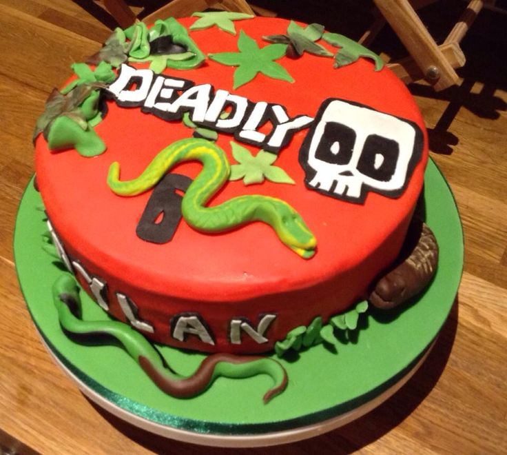 Deadly 60 Cake Animal Themed Birthday Party60th