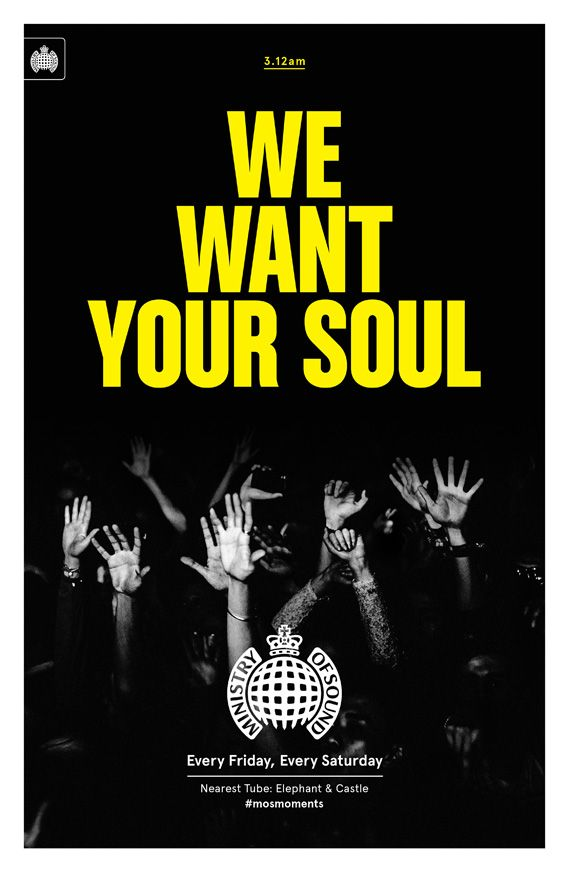Creative agency Studio Output has designed a set of six promotional posters for Ministry of Sound that will be displayed in 100 London Underground stations, featuring photographs by Paul Bence