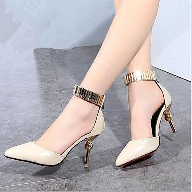 Women's Shoes Metal Patent Leather Stiletto Heel Pointed Toe / Closed Toe  Heels Office & Career