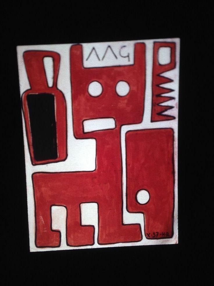 "Hector Ragni ""construction W/ Animal"" Uruguay Modern Art 35mm Slide"