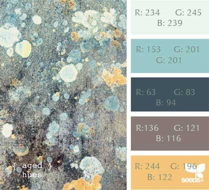 A beautiful palette from Design Seeds with the added RGB numbers for exact Sims 3 customization.