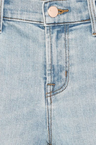 J Brand - Selena Cropped Mid-rise Bootcut Jeans - Light denim - 28