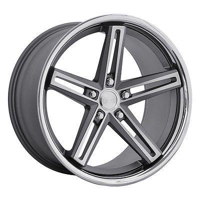 22x10.5 Concept One CS-55 5x112 42 Matte Gunmetal Bronze Brushed Wheel N set(4)