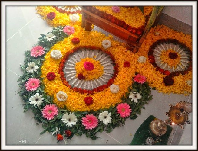 Pin by Archana s. Puranik on Flower Rangoli.. | Flower ...