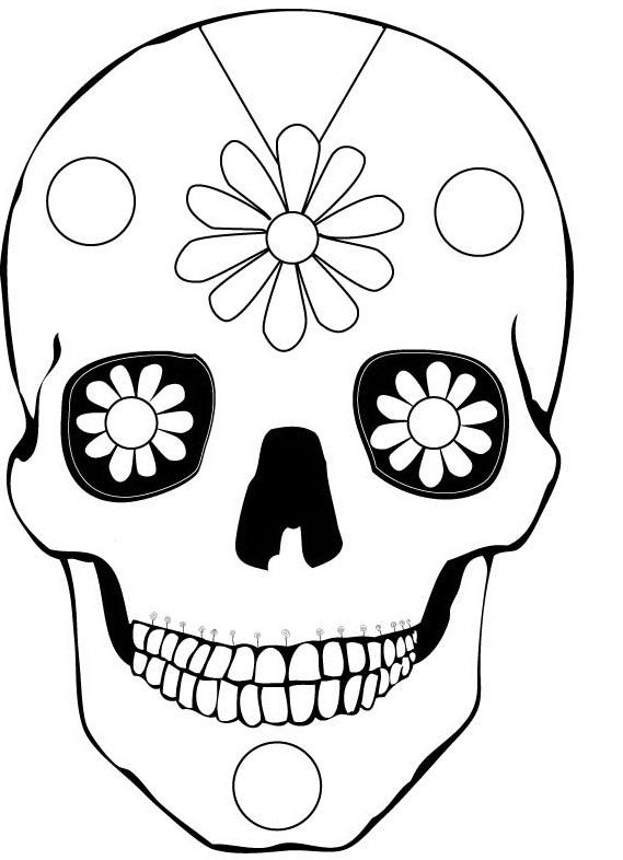 100+ ideas to try about Printable Sugar Skulls Coloring ...