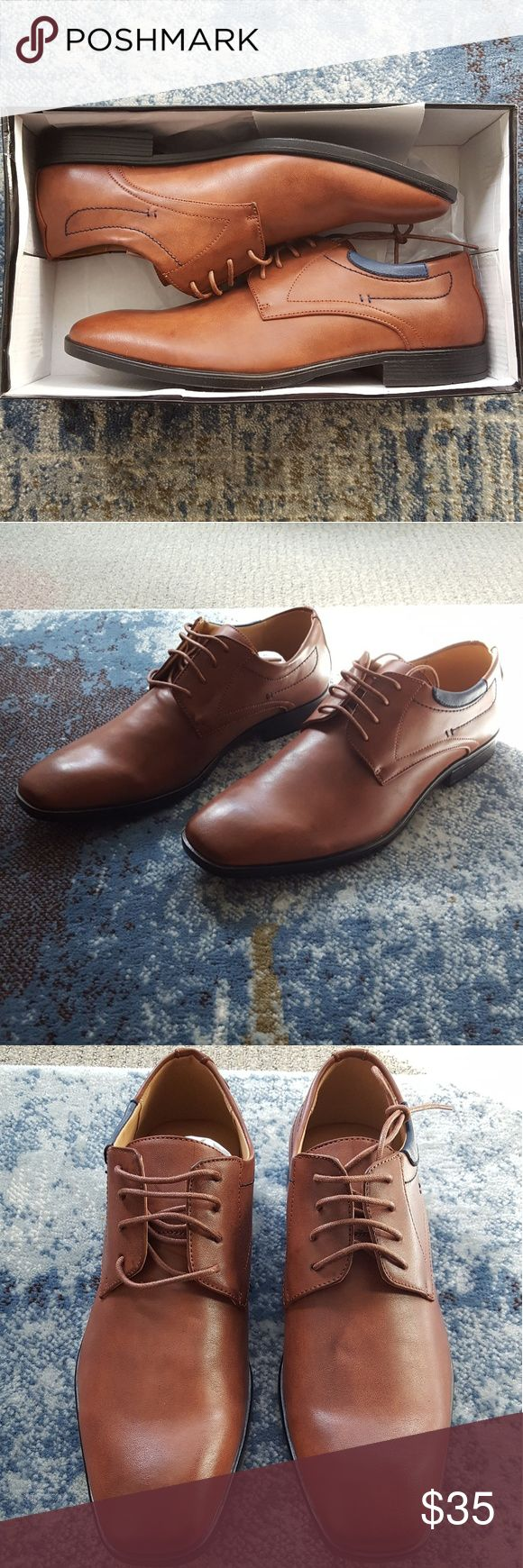 NWT Men's Steve Madden Dress Shoes NWT Men's Steve Madden Dress Shoes - Size 11.  Came straight out of the shipping box from store.  No scuffs, stains, or any type markings.  Color: cognac (medium rich brown).  OPEN TO OFFERS!!! ❤ Steve Madden Shoes Oxfords & Derbys