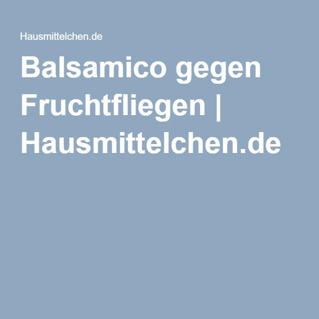 Balsamico gegen Fruchtfliegen | Hausmittelchen.de