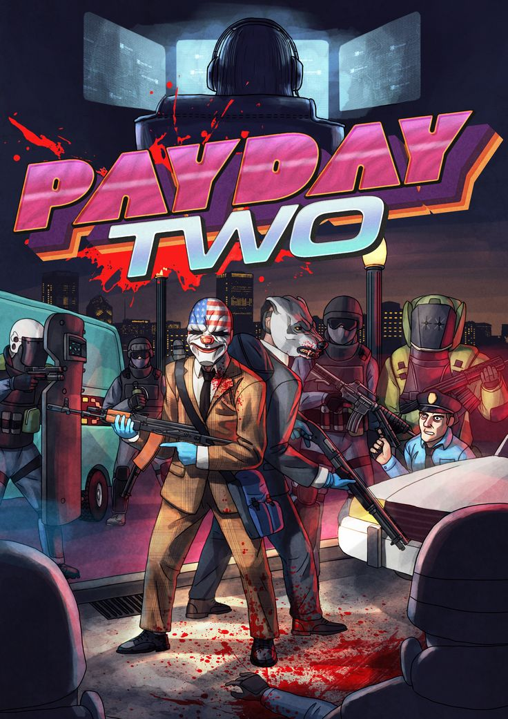 If anyone knows what crossover this is, you know it's awesome (It's PayDay 2 and Hotline Miami).
