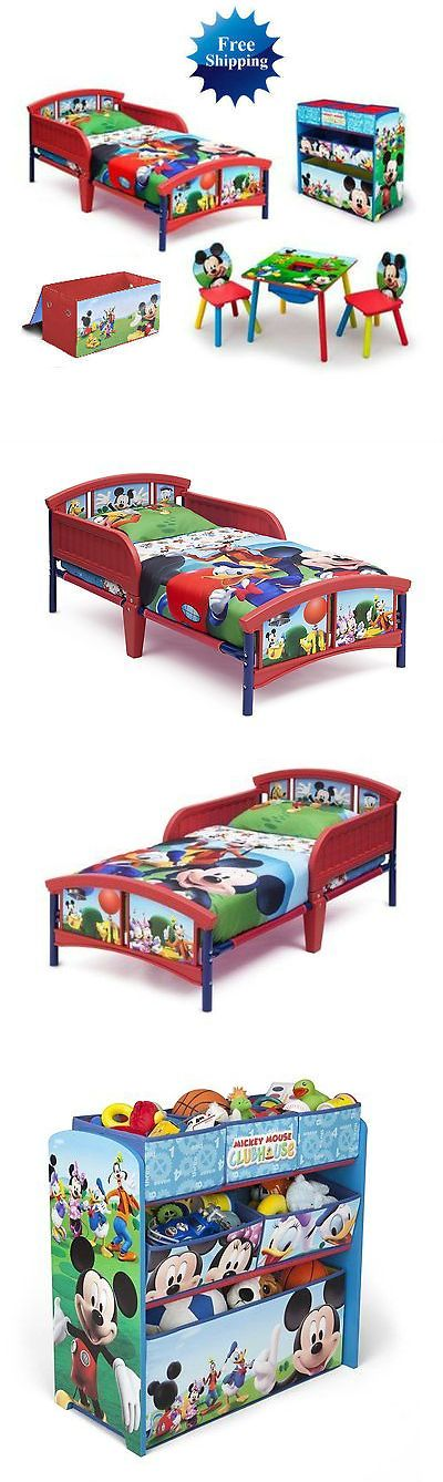 Kids Furniture: Mickey Mouse Room-In-A-Box Bed+Table+Chairs+Toy Organizer Bundle -> BUY IT NOW ONLY: $159.99 on eBay!