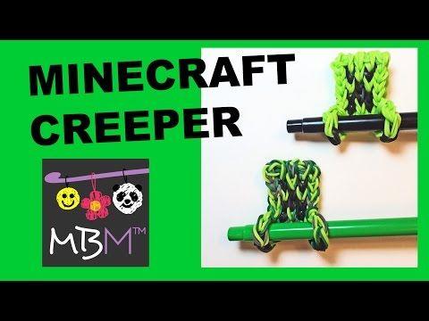 ▶ Rainbow Loom Minecraft Creeper - Pencil Hugger Charm #11 - YouTube