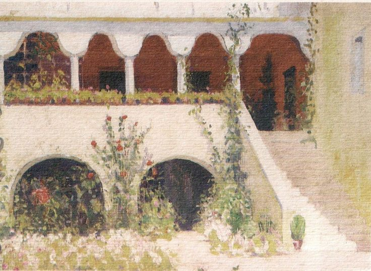 BOUBOULINAS MANSION-MUSEUM at SPETSES, painted by P.K