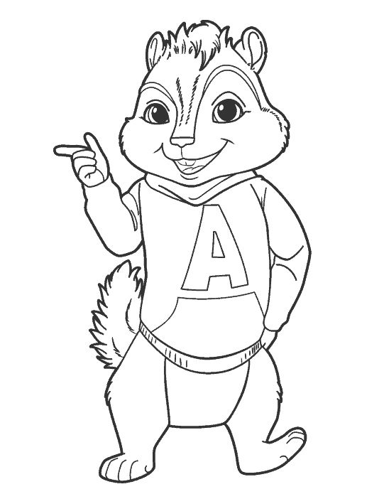 63 best Alvin and the Chipmunks images on Pinterest | Coloring books ...