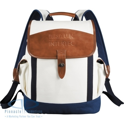 Legacy Cotton Rucksack Backpack with logo #american classic