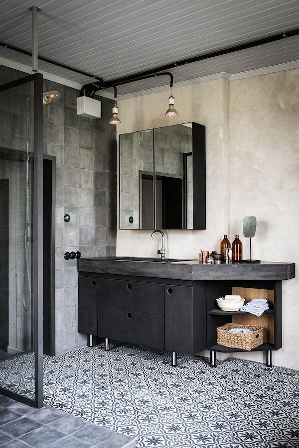 Booster sa déco avec des carreaux de ciment || Style industriel pour cette maison en Suède