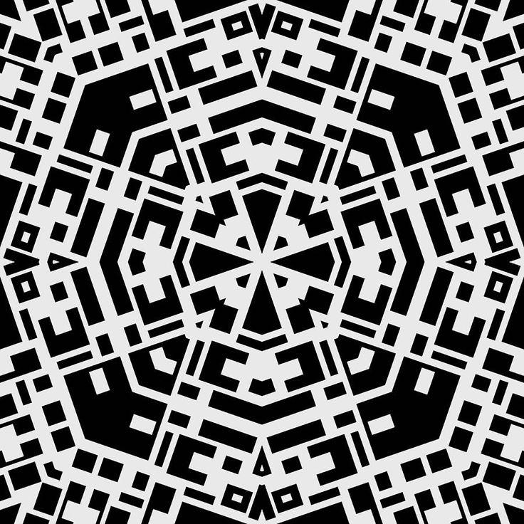 kaleidoscope black and white - Google Search
