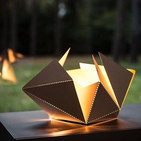 An origami folding lamp.
