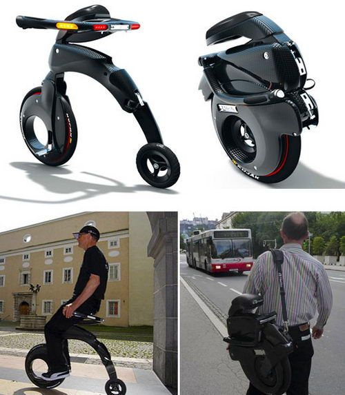 YikeBike - Electric Folding Bicycle Concept - - folding bike - bici pieghevole