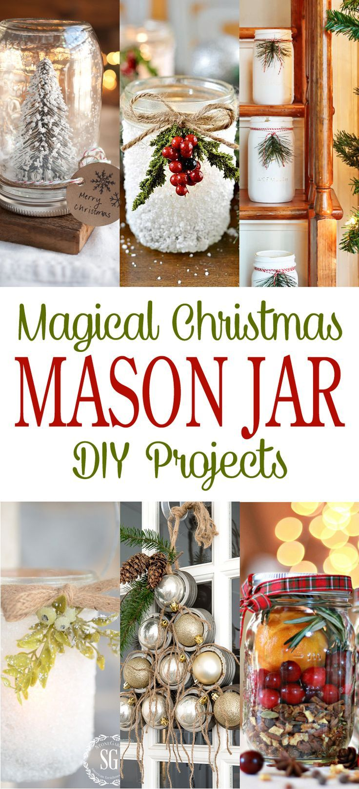 Magical Christmas Mason Jar DIY Projects - The Cottage Market