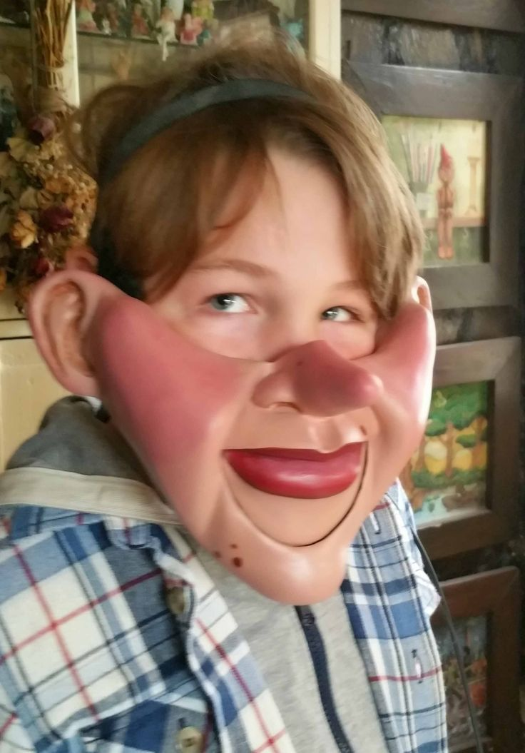 Pinnochio Cable Controlled Ventriloquist Mask