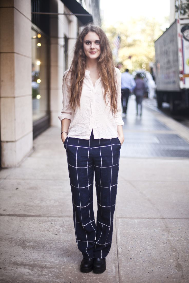 Street Style Showdown: Upper East Side Vs. Williamsburg #refinery29  http://www.refinery29.com/brooklyn-upper-east-side-street-style#slide15  Name: Sibylla PhippsNeighborhood: Upper East SideOccupation: GymnastWhat She's Wearing: Whistles trousers and Vagabond shoes.