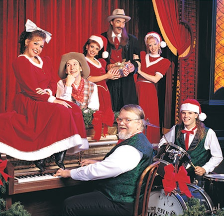 The Fa-La-La Follies at The Silver Dollar Saloon during Silver Dollar City's An Old Time Christmas