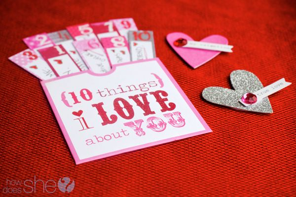 card for loved one: Valentines Ideas, Things I Love, Valentines Printable, Sweet Valentines, Gifts Ideas, Valentines Day, 10 Things, Valentines Cards, 20 Sweet