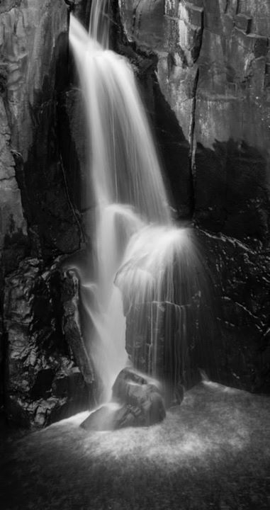 Long exposures:) waterfall, black and white, katiebodmannphotography