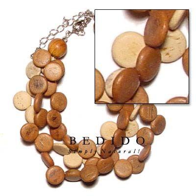 3 Filas De Coco Tostado Sidedrill Perles