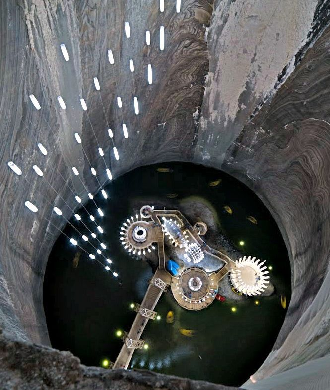 Salina Turda, located in Turda, Romania, is home to an underground theme park that's nestled inside one of the oldest salt mines in the world.