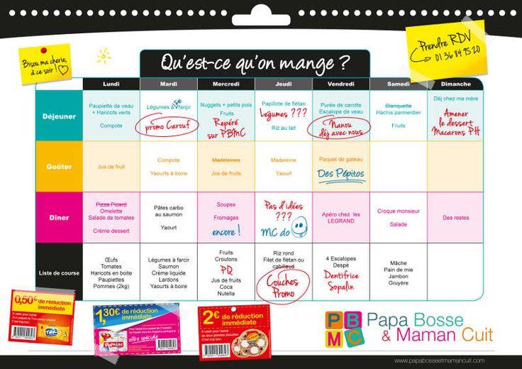 Conseil #1 : Organiser les menus de la semaine ou les tribulations d'une Picard-Addict | Papa Bosse et Maman Cuit