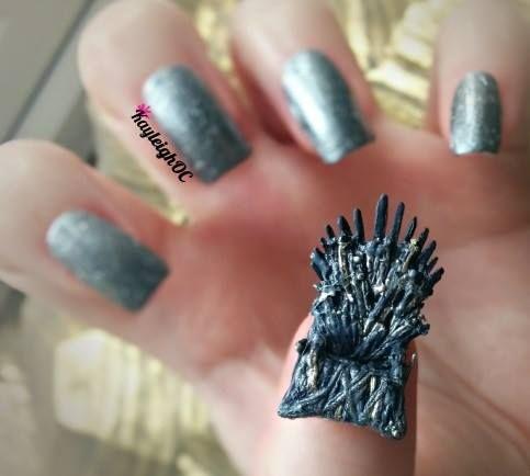 Game of Thrones - Iron Throne Nail Art