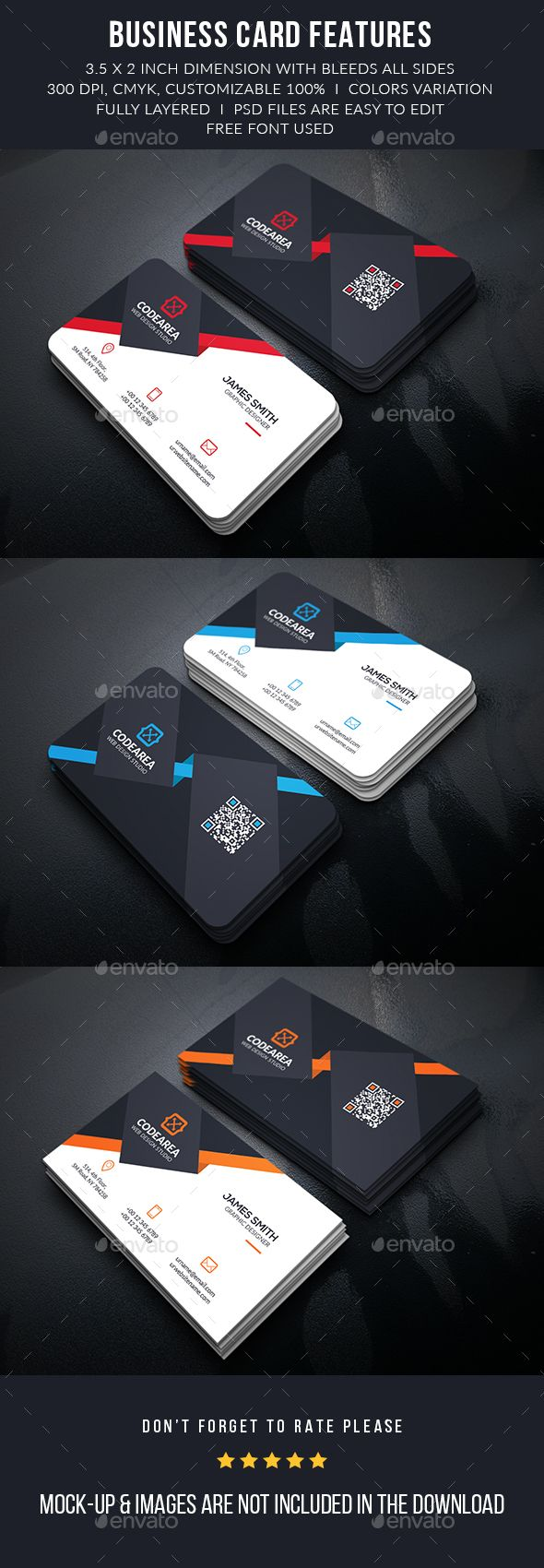 Elegant Corporate Business Cards Template PSD #design #visitcard Download: http://graphicriver.net/item/elegant-corporate-business-cards/13124396?ref=ksioks