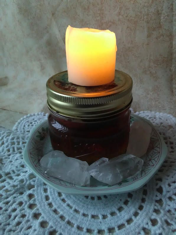 3 oz honey jar spell kit with petition paper, candles, and organic pure honey, and detailed instruct