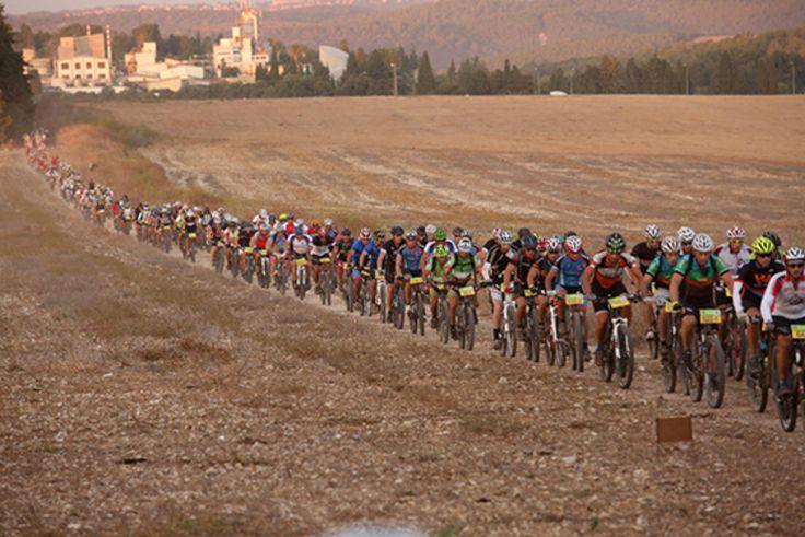 The Peloton http://www.bicycling.com/rides/adventure/racing-mountain-bikes-through-the-holy-land/the-peloton