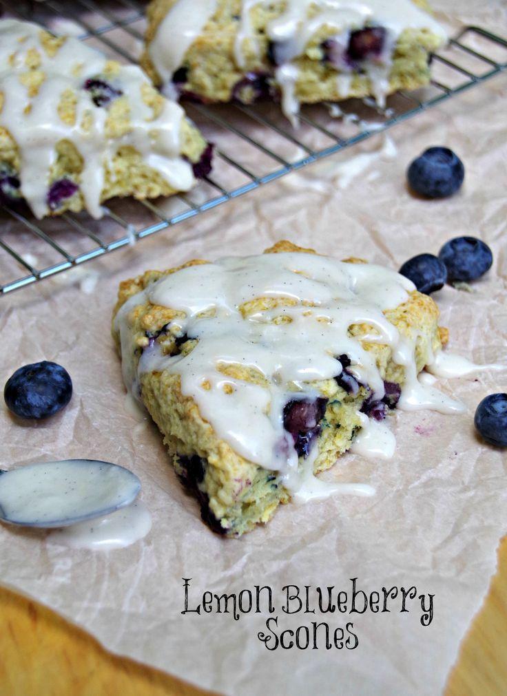 Lemon Blueberry Scones Recipe. Delicious breakfast recipe the whole ...