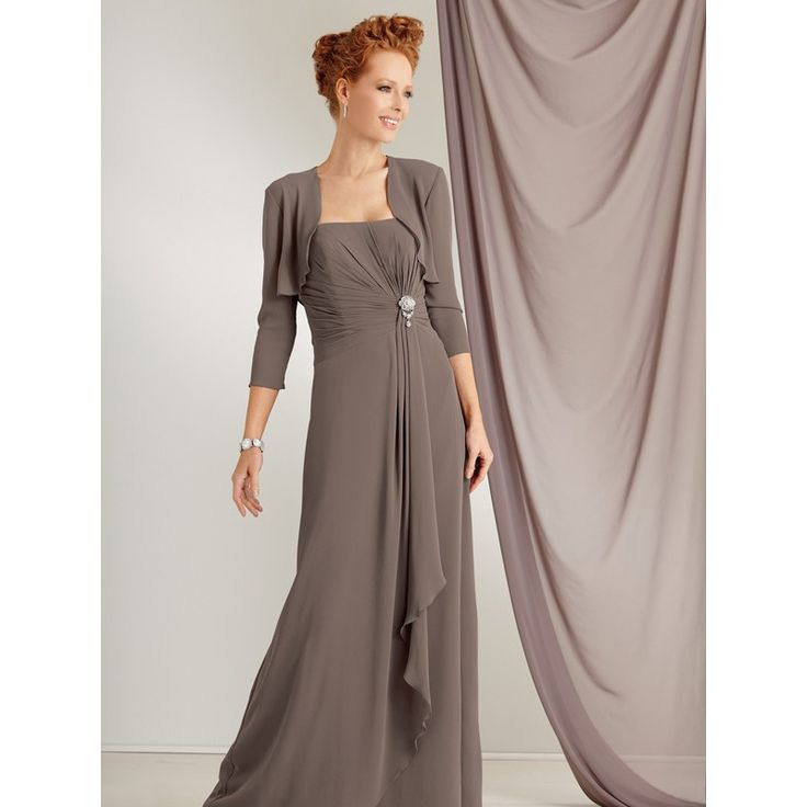 elegantmotherbrideweddingdresses elegant brown chiffon mother occasion dress