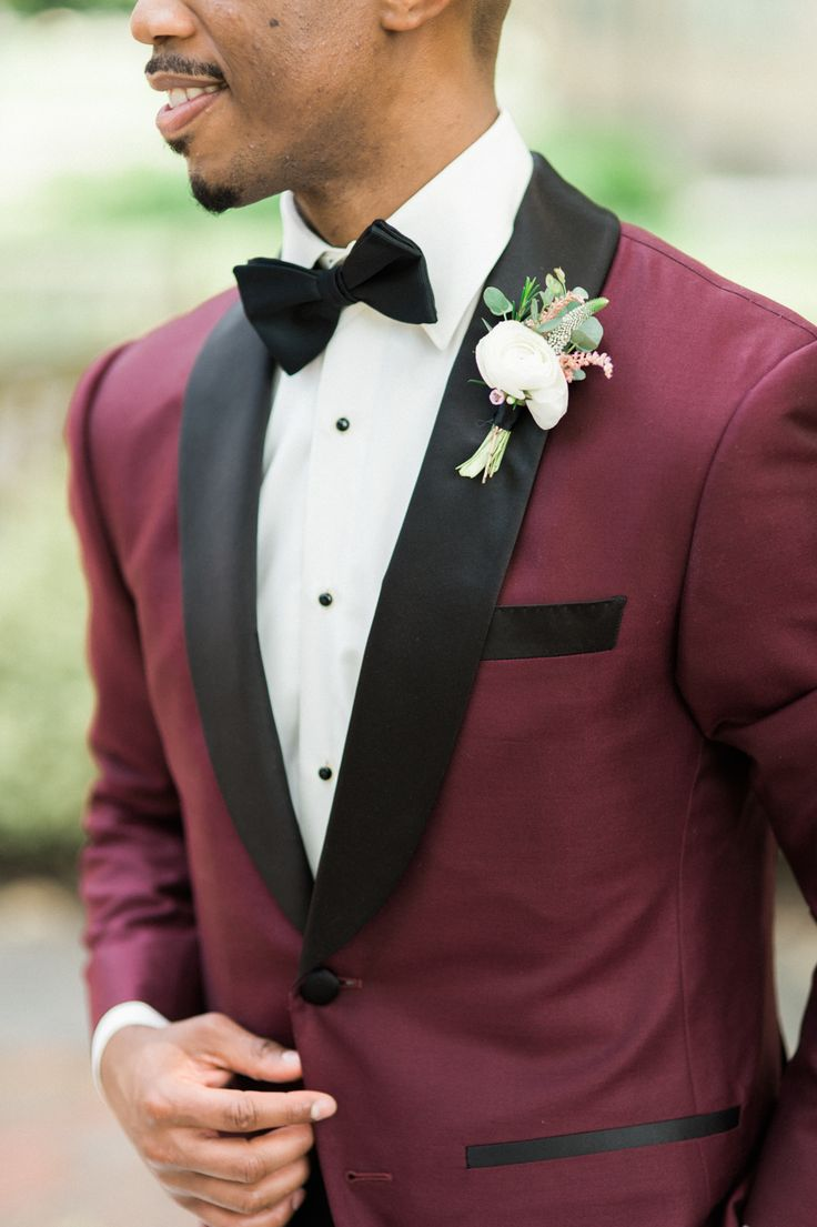 Photography : Shannon Moffit Photography | Grooms Attire : Calvin Klein Read More on SMP: http://www.stylemepretty.com/2016/11/16/berry-wedding-color-ideas/