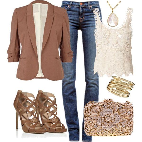 keep it classy & clean! (Vero Moda Ida Crochet Top $64). #casual fashion #womens fashion