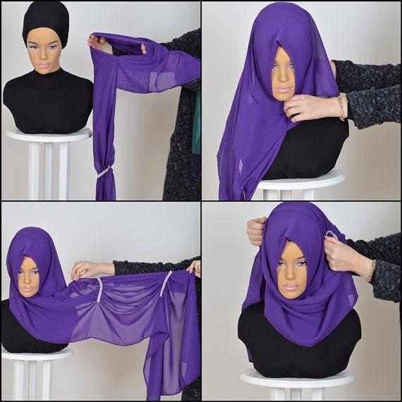 Chiffon Express Hijab Code:PS-0010 Muslim Women by HAZIRTURBAN