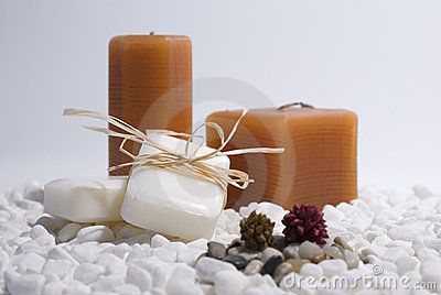 SPA zen candles and soap by Alexandre Dvihally, via Dreamstime