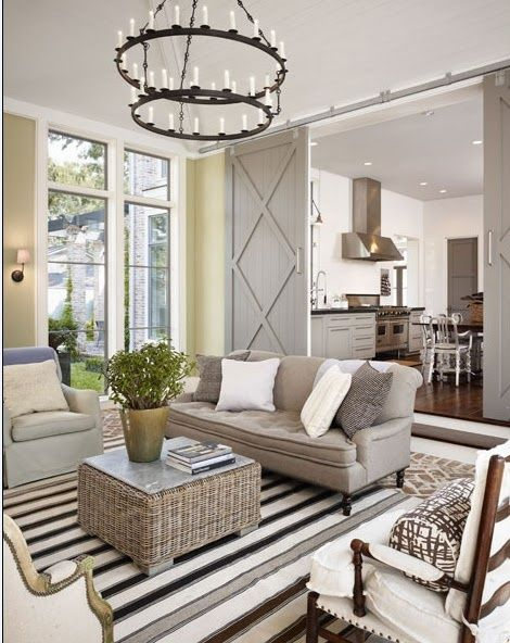 I am in love with this room!! color combos, furniture, barn doors...love love love