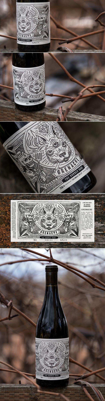 Split Rail Winery: The Horned Hare — The Dieline | Packaging & Branding Design & Innovation News